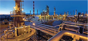 Photo of Imperial Oil refinery at night